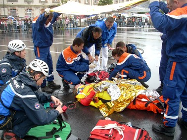 Protection civile du cantal, exercices de secours